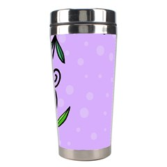 Hand Drawn Doodle Flower Border Stainless Steel Travel Tumblers