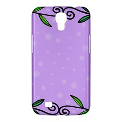 Hand Drawn Doodle Flower Border Samsung Galaxy Mega 6.3  I9200 Hardshell Case