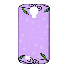 Hand Drawn Doodle Flower Border Samsung Galaxy S4 Classic Hardshell Case (pc+silicone)