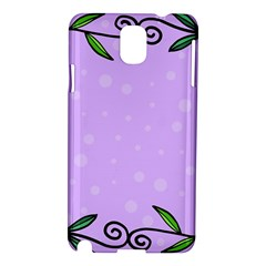 Hand Drawn Doodle Flower Border Samsung Galaxy Note 3 N9005 Hardshell Case
