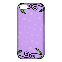 Hand Drawn Doodle Flower Border Apple Iphone 5c Hardshell Case