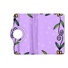 Hand Drawn Doodle Flower Border Kindle Fire HD (2013) Flip 360 Case