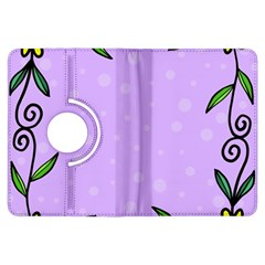 Hand Drawn Doodle Flower Border Kindle Fire HDX Flip 360 Case