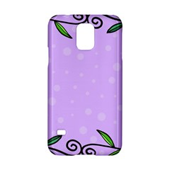 Hand Drawn Doodle Flower Border Samsung Galaxy S5 Hardshell Case
