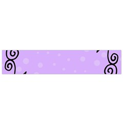 Hand Drawn Doodle Flower Border Flano Scarf (Small)