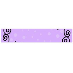 Hand Drawn Doodle Flower Border Flano Scarf (Large)