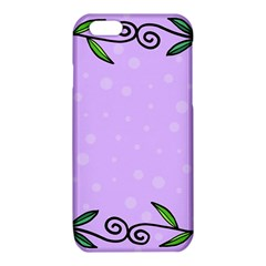 Hand Drawn Doodle Flower Border iPhone 6/6S TPU Case
