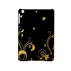 Golden Flowers And Leaves On A Black Background iPad Mini 2 Hardshell Cases