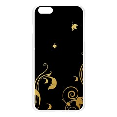 Golden Flowers And Leaves On A Black Background Apple Seamless iPhone 6 Plus/6S Plus Case (Transparent)