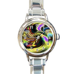 Spiral Of Tubes Round Italian Charm Watch