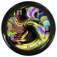 Spiral Of Tubes Wall Clocks (Black)