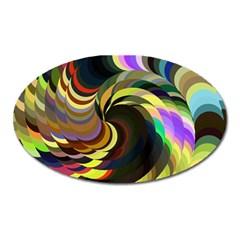 Spiral Of Tubes Oval Magnet