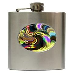 Spiral Of Tubes Hip Flask (6 oz)