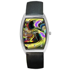 Spiral Of Tubes Barrel Style Metal Watch
