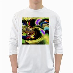 Spiral Of Tubes White Long Sleeve T-Shirts
