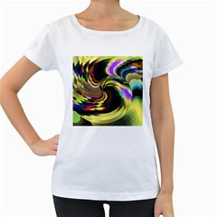 Spiral Of Tubes Women s Loose-Fit T-Shirt (White)