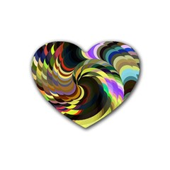 Spiral Of Tubes Heart Coaster (4 Pack)