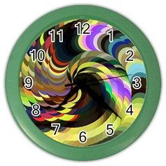 Spiral Of Tubes Color Wall Clocks