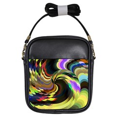 Spiral Of Tubes Girls Sling Bags