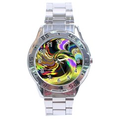 Spiral Of Tubes Stainless Steel Analogue Watch