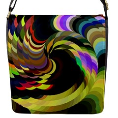 Spiral Of Tubes Flap Messenger Bag (S)