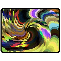 Spiral Of Tubes Double Sided Fleece Blanket (large)