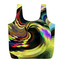 Spiral Of Tubes Full Print Recycle Bags (L)