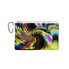 Spiral Of Tubes Canvas Cosmetic Bag (S)