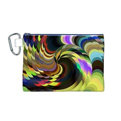 Spiral Of Tubes Canvas Cosmetic Bag (M)