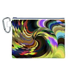 Spiral Of Tubes Canvas Cosmetic Bag (L)