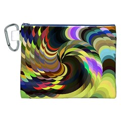 Spiral Of Tubes Canvas Cosmetic Bag (xxl)