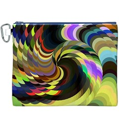 Spiral Of Tubes Canvas Cosmetic Bag (xxxl)