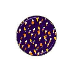 Seamless Cartoon Ice Cream And Lolly Pop Tilable Design Hat Clip Ball Marker (4 pack)