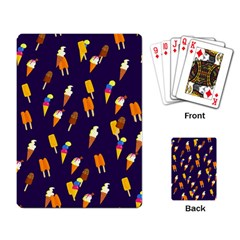 Seamless Cartoon Ice Cream And Lolly Pop Tilable Design Playing Card