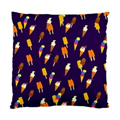 Seamless Cartoon Ice Cream And Lolly Pop Tilable Design Standard Cushion Case (One Side)