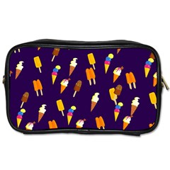 Seamless Cartoon Ice Cream And Lolly Pop Tilable Design Toiletries Bags 2 Side