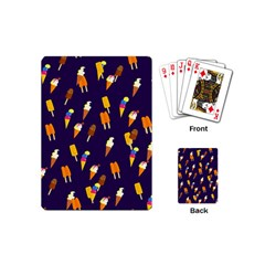 Seamless Cartoon Ice Cream And Lolly Pop Tilable Design Playing Cards (mini)
