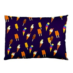 Seamless Cartoon Ice Cream And Lolly Pop Tilable Design Pillow Case (Two Sides)