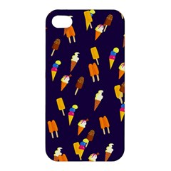 Seamless Cartoon Ice Cream And Lolly Pop Tilable Design Apple iPhone 4/4S Hardshell Case