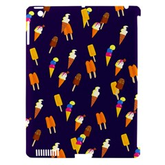 Seamless Cartoon Ice Cream And Lolly Pop Tilable Design Apple Ipad 3/4 Hardshell Case (compatible With Smart Cover)