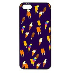 Seamless Cartoon Ice Cream And Lolly Pop Tilable Design Apple iPhone 5 Seamless Case (Black)