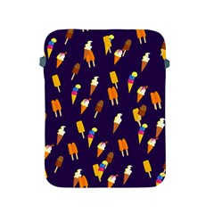 Seamless Cartoon Ice Cream And Lolly Pop Tilable Design Apple Ipad 2/3/4 Protective Soft Cases