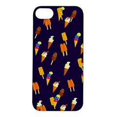 Seamless Cartoon Ice Cream And Lolly Pop Tilable Design Apple Iphone 5s/ Se Hardshell Case