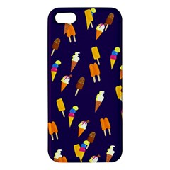 Seamless Cartoon Ice Cream And Lolly Pop Tilable Design iPhone 5S/ SE Premium Hardshell Case