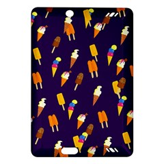 Seamless Cartoon Ice Cream And Lolly Pop Tilable Design Amazon Kindle Fire Hd (2013) Hardshell Case