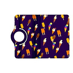 Seamless Cartoon Ice Cream And Lolly Pop Tilable Design Kindle Fire Hd (2013) Flip 360 Case