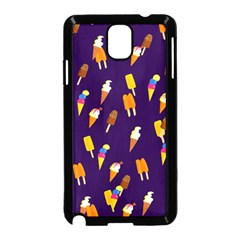Seamless Cartoon Ice Cream And Lolly Pop Tilable Design Samsung Galaxy Note 3 Neo Hardshell Case (black)