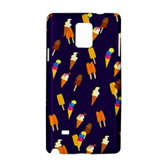 Seamless Cartoon Ice Cream And Lolly Pop Tilable Design Samsung Galaxy Note 4 Hardshell Case