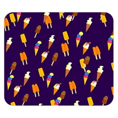Seamless Cartoon Ice Cream And Lolly Pop Tilable Design Double Sided Flano Blanket (small)