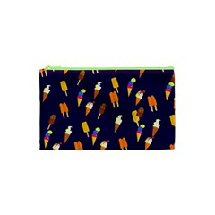 Seamless Cartoon Ice Cream And Lolly Pop Tilable Design Cosmetic Bag (XS)